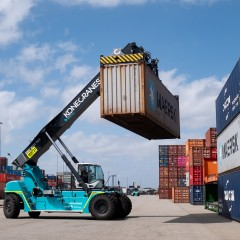 Konecranes reach stacker with Flow Drive_ILS